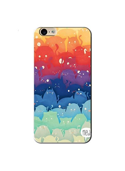 People's Cover iPhone 6/6S Kabartmalı Kapak Renkli
